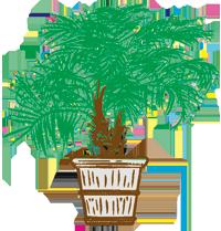 Centrescapes Inc .Logo Palm Tree